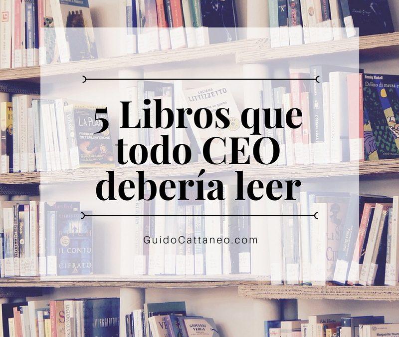 5 Libros que todo CEO debería leer